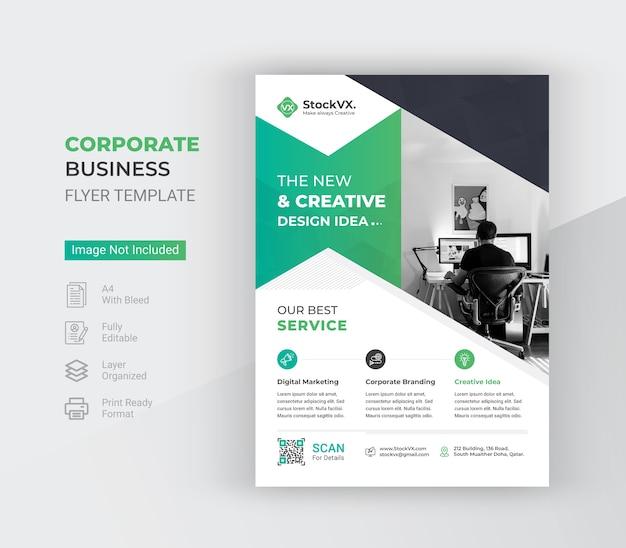 Moderne a4 corporate business flyer vorlage