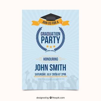 Moderne abschluss-party einladung
