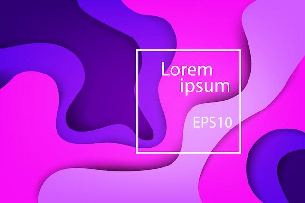 Moderne abstrakte abdeckungen, bunte welle und fließender violetter hintergrund der formen