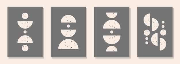 Moderne abstrakte ästhetische hintergründe mit strukturierten verschiedenen geometrischen formen