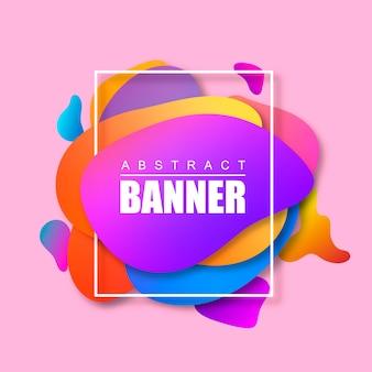 Moderne abstrakte banner