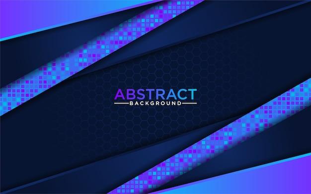 Moderne abstrakte blaue technologie mit dunkelblauem hintergrund