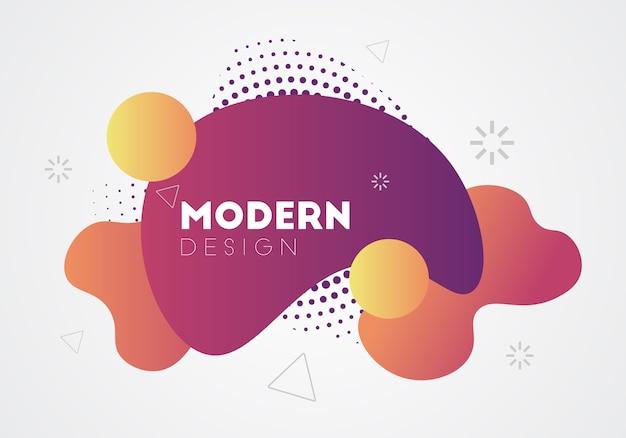 Moderne abstrakte designhintergrundfahne