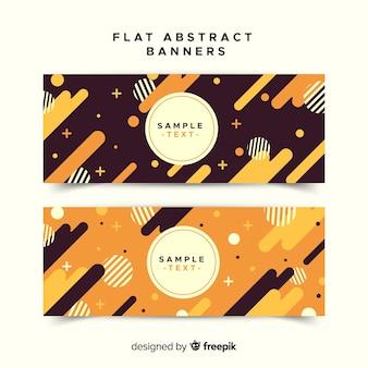 Moderne abstrakte fahnen mit flachem design