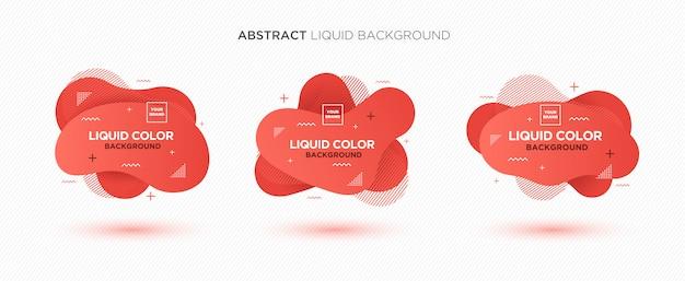 Moderne abstrakte flüssige vektorfahne stellte in lebende korallenrote farben ein