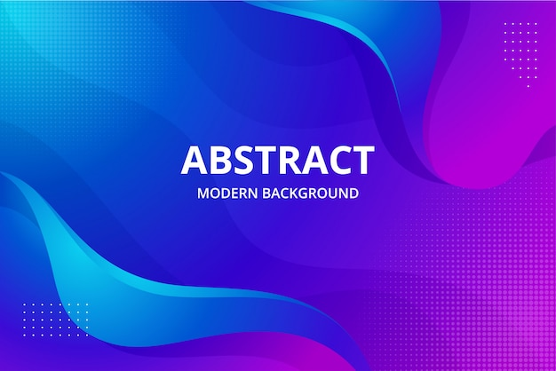 Moderne abstrakte hintergrundtapete in der lebendigen blauen lila rosa farbe