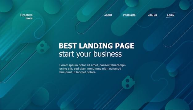 Moderne abstrakte landingpage oder web template