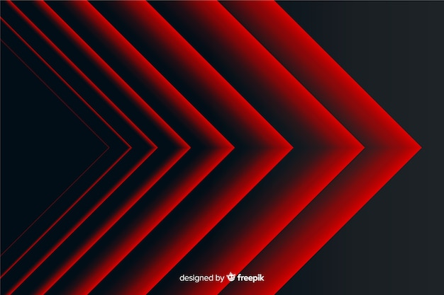 Moderne abstrakte rote spitze linien geometrischer hintergrund