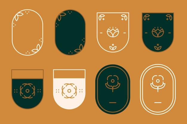 Moderne abzeichen