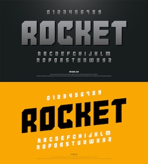 Moderne alphabet schriftarten und typografie