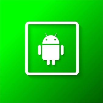 Moderne android-symbol hintergrund