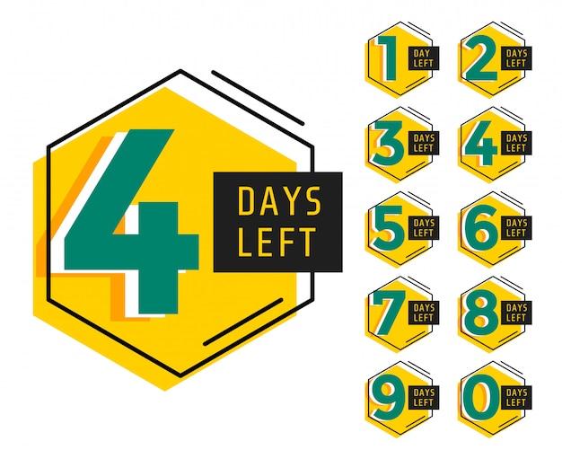 Moderne anzahl der verbleibenden tage countdown-timer