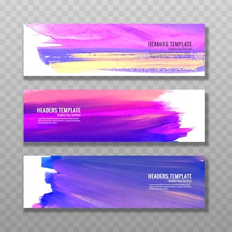Moderne aquarell baners