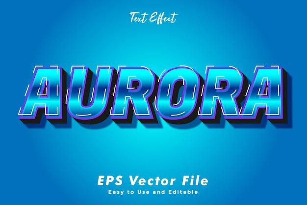 Moderne aurora-texteffektschablone