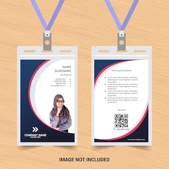 Moderne ausweisvorlage