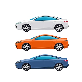 Moderne autos vektor-illustration