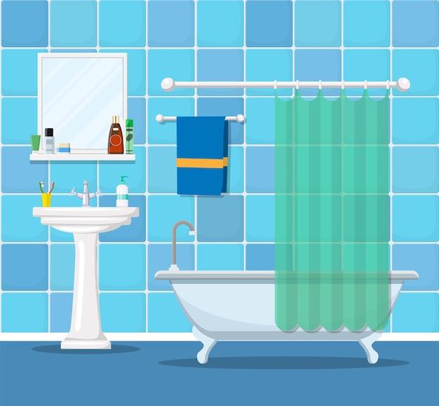Moderne badezimmereinrichtung mit möbeln