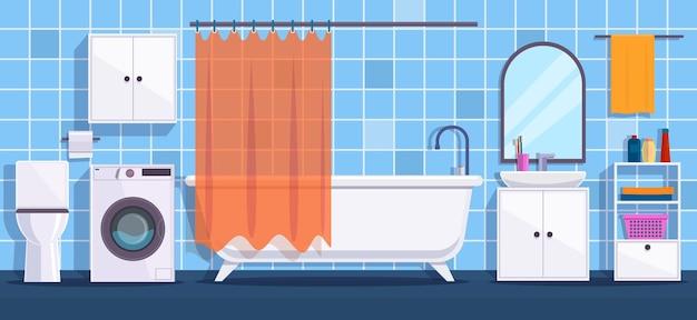 Moderne badezimmerinnenausstattung