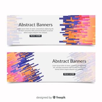 Moderne Banner mit abstrakten Design