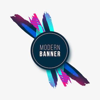 Moderne banner mit bunten strichen