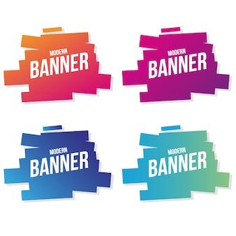 Moderne bannersammlung