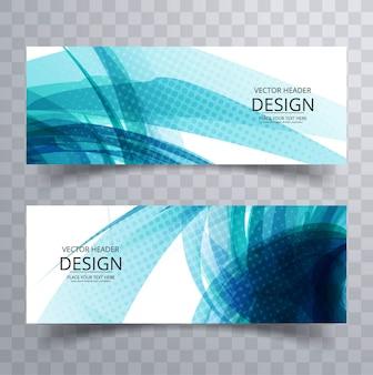 Moderne blaue banner