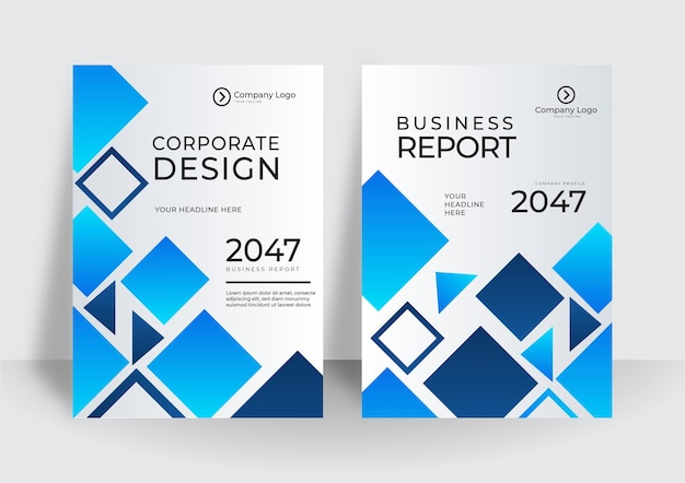 Moderne blaue cover-design-vorlage. layout-design der broschürenvorlage. jahresbericht des unternehmensgeschäfts, katalog, magazin, flyer-modell. runde form des kreativen modernen hellen konzeptkreises