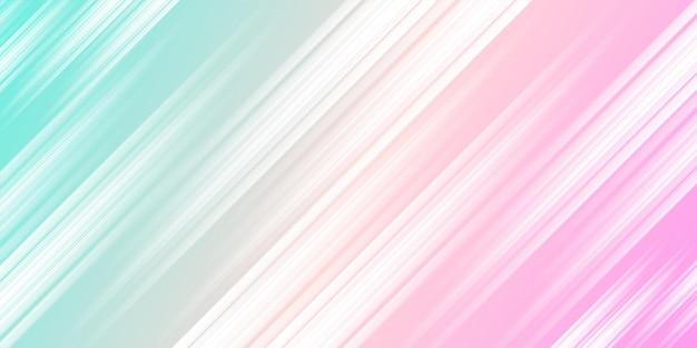 Moderne blaue und rosa farbverlaufsfarbe mit stilvollem liniendekorationshintergrund