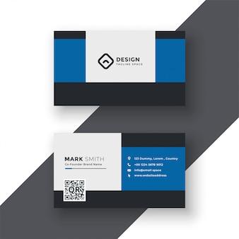 Moderne blaue visitenkarte