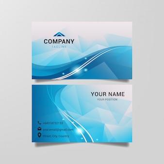 Moderne blaue visitenkarteschablone