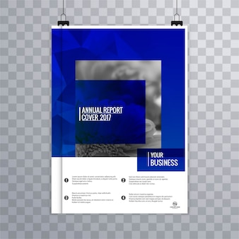 Moderne blue business broschüre