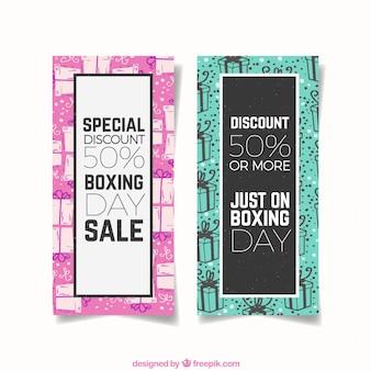 Moderne box-tag-verkauf-banner