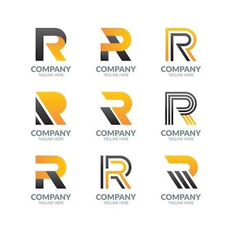 Moderne brief-logo-design-sammlung