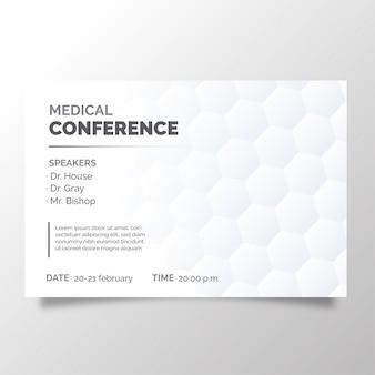 Moderne broschüre der medizinischen konferenz
