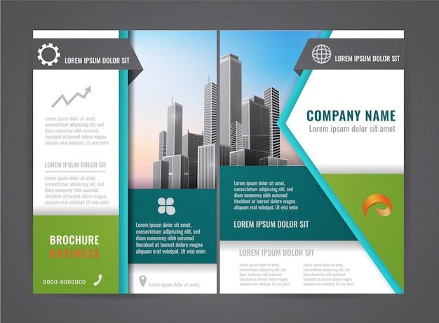 Moderne broschüre flyer design-vorlage.