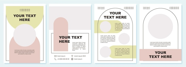 Moderne broschürenvorlage für die datenpräsentation. flyer, broschüre, broschürendruck, cover-design mit kopierraum. dein text hier. vektorlayouts für zeitschriften, geschäftsberichte, werbeplakate