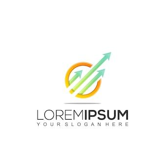 Moderne buchhaltung und finanzen logo vorlage