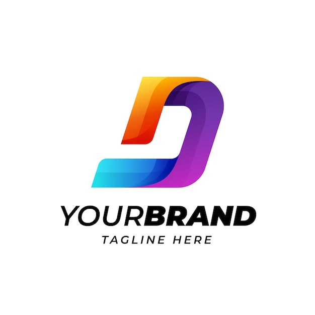 Moderne buchstabe d logo-vorlage
