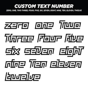 Moderne buchstaben text nummer sets