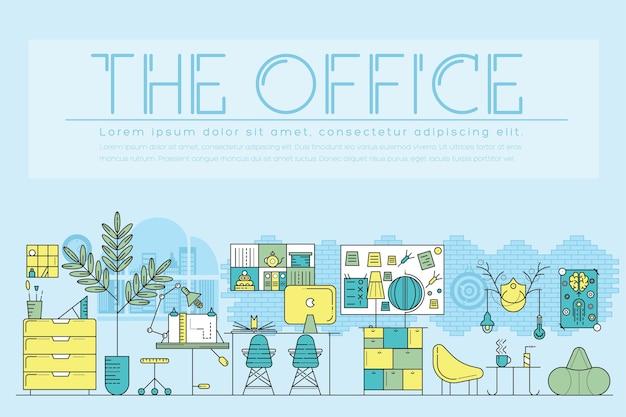 Moderne büroinnenlandschaft