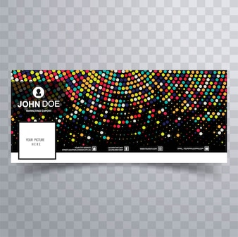 Moderne bunte Facebook-Fahnenschablone, mit punktiertem Design