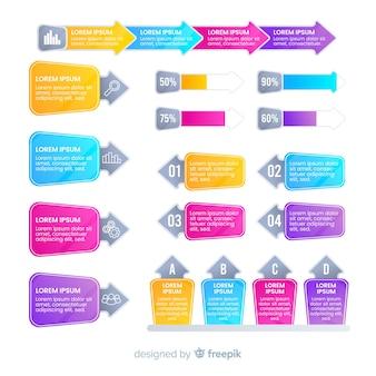 Moderne bunte infografiken elemente