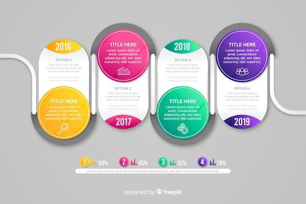 Moderne bunte infografiken schritte