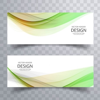 Moderne bunte wellenförmige banner