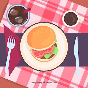 Moderne burger restaurant zusammensetzung