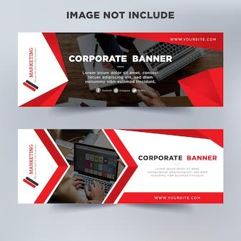 Moderne business banner vorlage