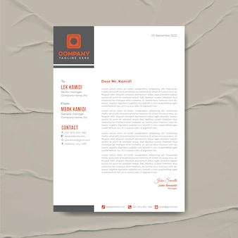 Moderne business-briefkopf-designvorlage, corporate identity, corporate briefkopf, briefpapier