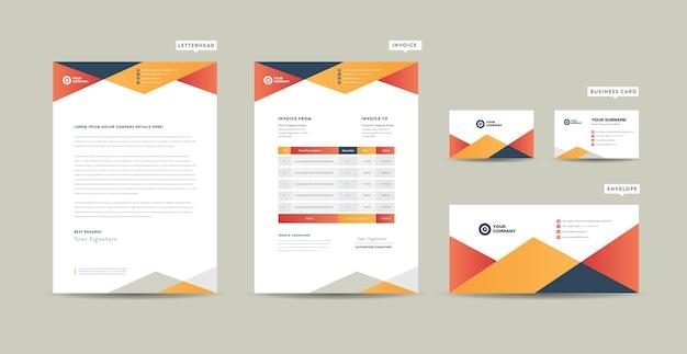 Moderne business-briefpapier-sammlung