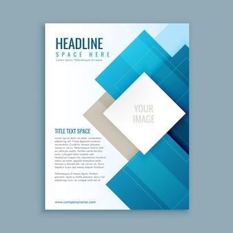 Moderne business-broschüre vorlage flyer