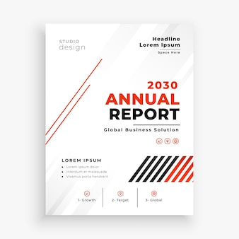 Moderne business-broschüren-vorlage für den jahresbericht-flyer